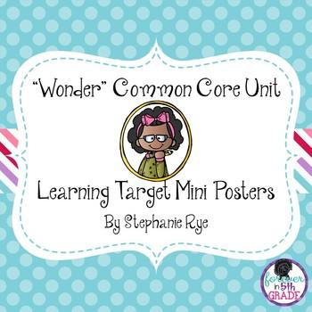 """Wonder"" Common Core Unit Learning Target Mini Posters"