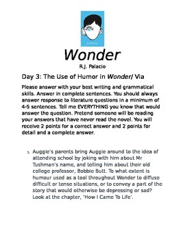 Wonder Comprehension Questions August's Personality