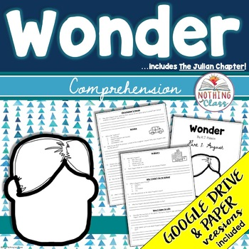 Wonder and The Julian Chapter: Comprehension Questions by chapter