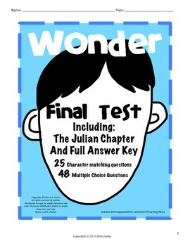 Wonder Final Test