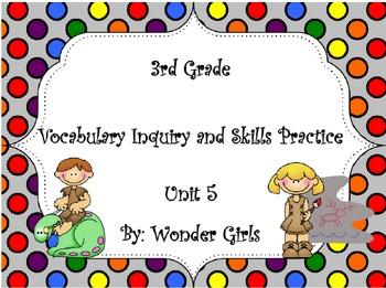 WonderGirls 3rd Grade: Unit 5 Vocabulary Inquiry and Skill