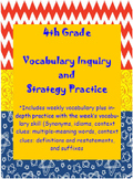 WonderGirls 4th Grade Wonders: Unit 4 Vocabulary Inquiry a