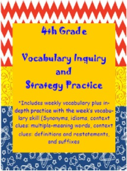 WonderGirls 4th Grade Wonders: Unit 4 Vocabulary Inquiry a