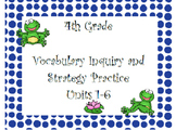WonderGirls 4th Grade: Units 1-6 Vocabulary Inquiry and Sk