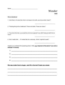 """""""Wonder"""" QUIZ"""