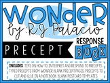 Wonder R.J. Palacio - Mr. Browne's Precept Response Book
