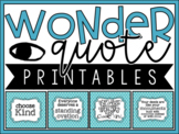 Wonder R.J. Palacio - Quote Printables