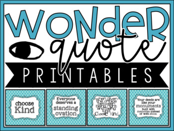 Wonder R.J. Palacio - Quote Printables