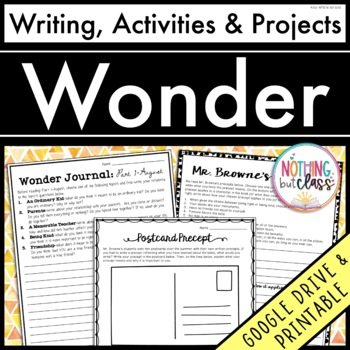 Wonder: Writing, Activities, and Projects