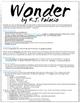 Wonder by R.J. Palacio (Book Project, Wonder Lesson Plans,