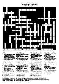 Wonder by R.J. Palacio - Big Crossword Puzzle