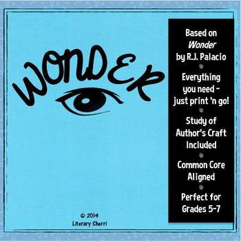 WONDER | R.J. Palacio | Wonder Novel Study | Wonder Unit
