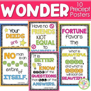 Wonder by RJ Palacio Precept Posters