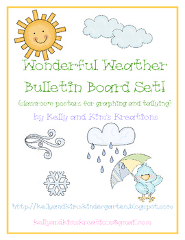 Wonderful Weather Bulletin Board Set! {graphing & tallying