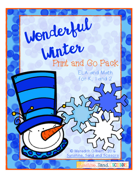Wonderful Winter Print and Go Pack