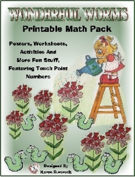 Wonderful Worms Printable Math Pack