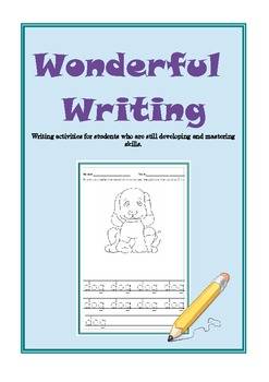 Wonderful Writing - Tracing and Word skills (Autism, SEN,