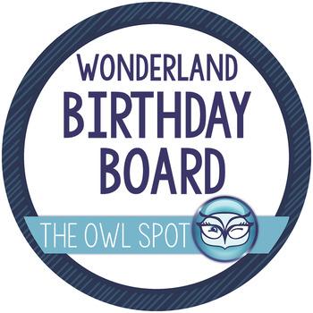 Wonderland Birthday Bulletin Board Set