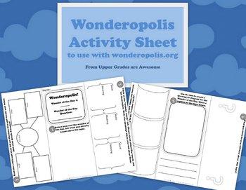 Wonderopolis Activity Sheet Trifold
