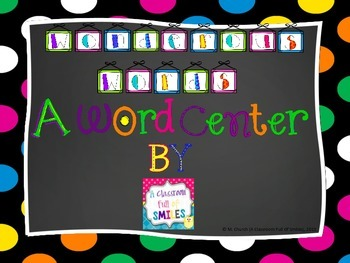 Wonderous Words - A Word Center Game!