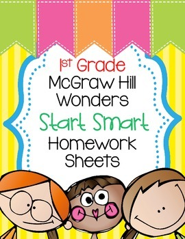 Wonders 1st Grade Start Smart Homework Sheets