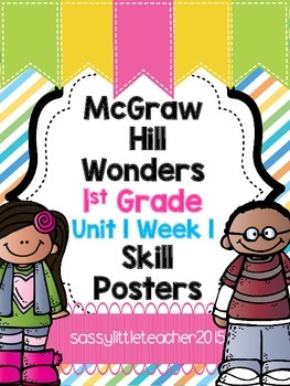 Wonders 1st Grade Unit 1 Week 1 Posters