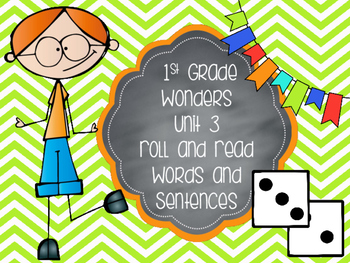 Wonders 1st Grade Unit 3 Roll and Read Bundle