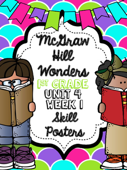 Wonders 1st Grade Unit 4 Week 1 Posters