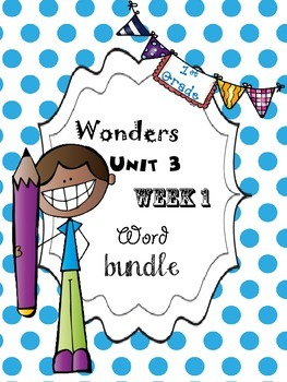 Wonders 3.1 Word Bundle