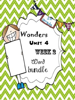 Wonders 4.2 Word Bundle