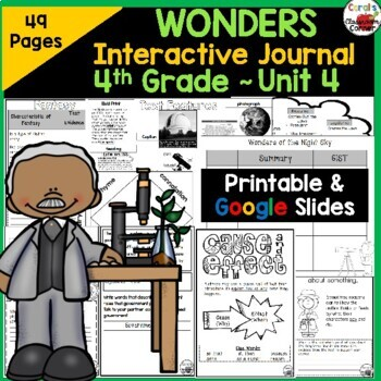 Wonders 4th Grade Interactive Journal Unit 4 BUNDLE