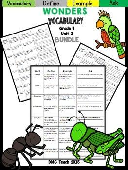 Wonders 4th Grade Vocabulary Bundle Unit-2
