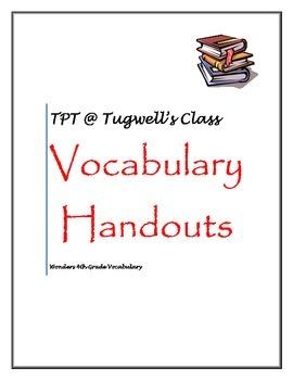 Wonders 4th Grade Vocabulary Unit 4