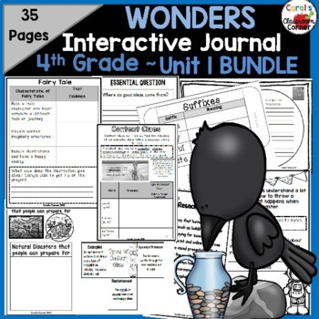 Wonders 4th Grade Interactive Journal Unit 1 BUNDLE