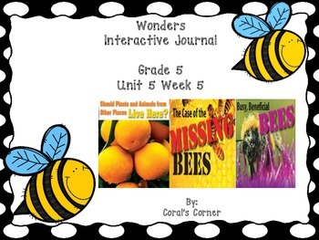 Wonders 5th Grade Interactive Journal Unit 5-Week 5