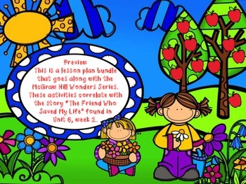 Wonders, 5th - The Friend Who Changed My Life Lesson Plan Bundle