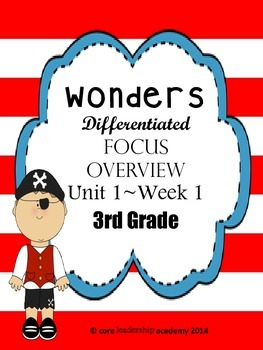 Wonders CCSS~ Differentiated Focus Overview Unit 1 Week 1~