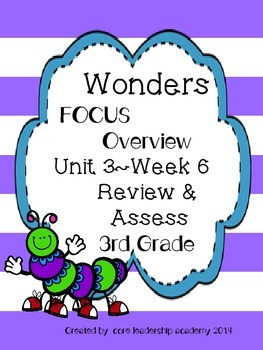 Wonders CCSS- Differentiated Focus Overview ~Unit 3 Week 6