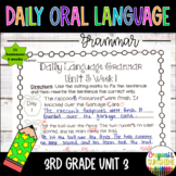 Wonders Daily Oral Language 3rd grade Unit 3