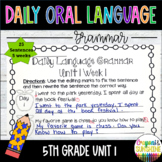 Wonders Daily Oral Language 5th grade Unit 1