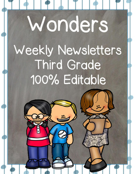 Wonders Editable Newsletters for the Entire School Year: T