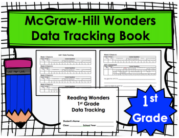 Wonders First Grade Data Tracking Book