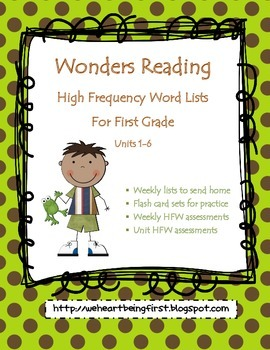 Wonders - First Grade - High Frequency Word List