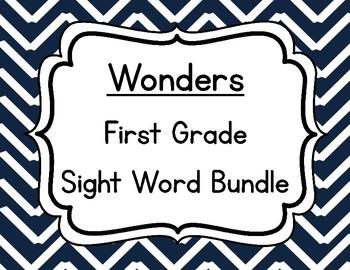 Wonders First Grade Sight Words Bundle