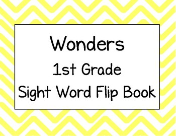 Wonders First Grade Sight Words Flip Book