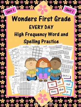 Wonders First Grade: Spelling and High Frequency Resources