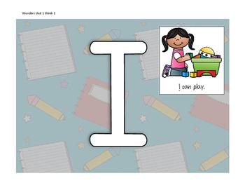 Wonders First Grade Smart Start Week 1 Sight Words Play Do