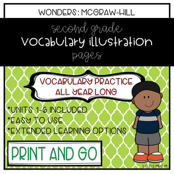 Reading Wonders Grade 2 Vocabulary Illustration Work