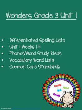 Wonders Grade 3 Unit 1
