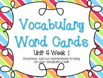 Wonders Grade 3: Unit 4 Vocabulary Games